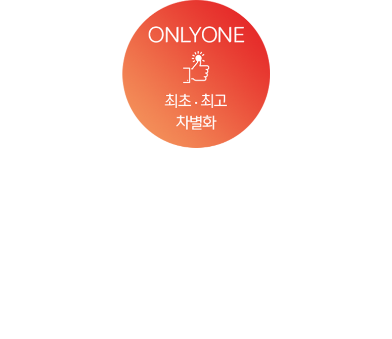 ONLYONE - 최초최고, 차별화